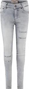 Blue Effect Mädchen Jeans destroyed seitlicher Streifen medium grey SLIM