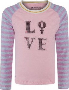 Blue Effect Mädchen Langarm-Shirt/Longsleeve Paillettten-LOVE candy