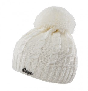 CAPO KIDS Strick-Mütze mit Pompon ecru