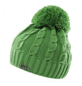 CAPO KIDS Strick-Mütze mit Pompon grasgrün