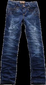 Blue Effect Mädchen Jeans Röhre Nieten dunkelblau