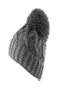 CAPO Strick-Beanie/Mütze mit Pompom grey