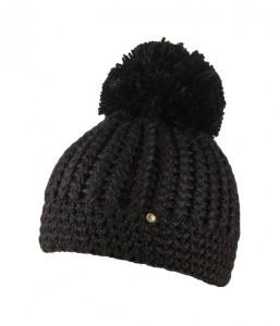 CAPO Strick-Beanie/Mütze mit Pompom schwarz