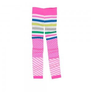 Mim-Pi Strick-Legging hot pink / Mustermix