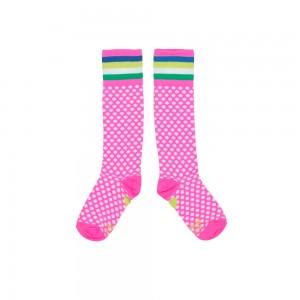 Mim-Pi Kniestrümpfe Punkte/Dots pink