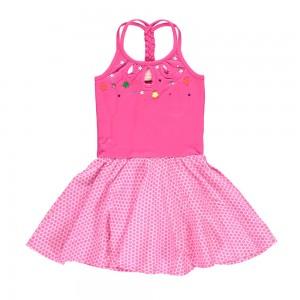 Mim-Pi Kleid pink/weiß