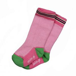 Mim-Pi Kniestrümpfe Streifen pink-weiss
