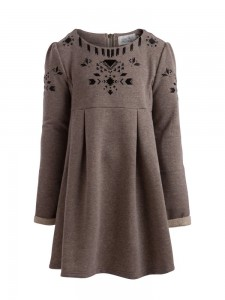 little PIECES Langarm-Kleid silver mink