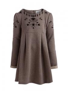 little PIECES Langarm-Kleid silver mink
