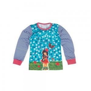 Mim-Pi Langarm-Shirt/Longsleeve/Sweater Mädchen blau