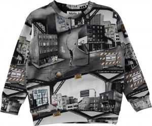 Molo Jungen Sweat-Shirt/Langarm-Shirt MADSIM City Text