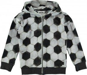 Molo Jungen Sweat-Jacke mit Kapuze MAURICE football structure