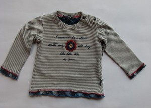 Carbone Langarmshirt Streifen offwhite