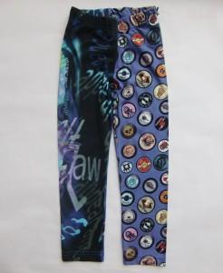 Carbone Legging 7/8 purple badges