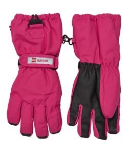 Lego Wear Tec Kinder Finger-Handschuhe AIDEN dark pink 134/140