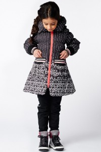 Mim-Pi Winter-Jacke/-Mantel black and white
