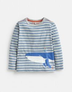Joules Jungen Langarm-Shirt/Longsleeve ZIPADEE Streifen Walfisch