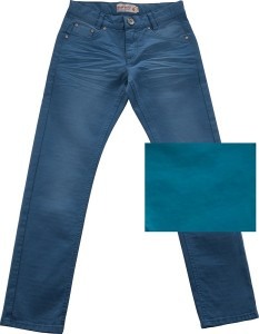 Blue Effect Mädchen coloured Jeans used-Look petrol