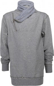 Blue Effect Sweat-Shirt / Sweater grau melange