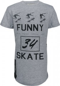 Blue Effect Jungen Skater Long-T-Shirt grau melange