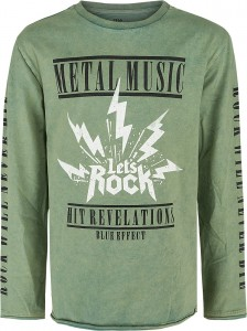 Blue Effect Jungen Langarm-Shirt/Longsleeve METAL MUSIC smoke green
