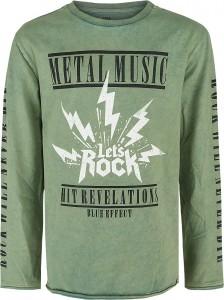 Blue Effect Jungen Langarm-Shirt/Longsleeve METAL MUSIC smoke green 128