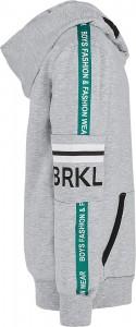 Blue Effect Jungen Kapuzen-Sweat-Shirt/Hoodie BRKLYN hellgrau melange