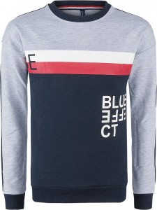 Blue Effect Jungen Sweat-Shirt/Sweater Colorblock BE hellgrau melange