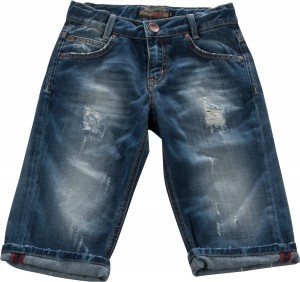 Blue Effect Jungen Jeans-Bermuda destroyed mittelblau