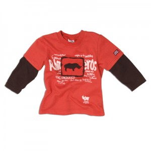 "Keedo Sweat-Shirt orange-braun ""Rhino sweater"""