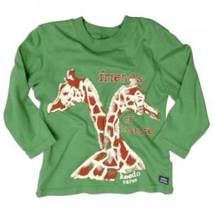 "Keedo Langarm-Shirt Giraffe been green ""Keedo cares T"""
