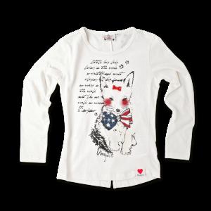 Vingino Langarm-Shirt / Longsleeve HAPPY offwhite