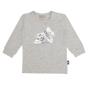 Hust & Claire Langarm-Shirt Chucks light grey melange