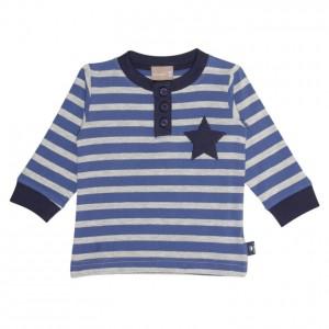 Hust & Claire Langarm-Shirt Streifen navy/grau