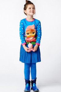 Mim-Pi Langarm-Shirt/Longsleeve Püppchen blau weiß
