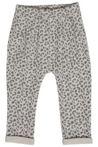 Hust & Claire Sweat-Hose Geparden-Look pearl grey melange