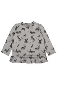 Hust & Claire Langarm-Shirt Häschen allover grau