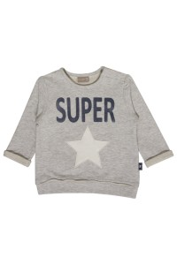 "Hust & Claire Sweat-Shirt ""SUPER"" pearl grey melange"