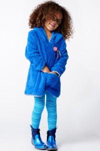 Mim-Pi Plüsch-Kleid jeansblau AUSVERKAUFT