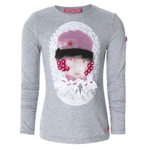Muy Malo Langarm-Shirt/Longsleeve Girls Portrait gray melange