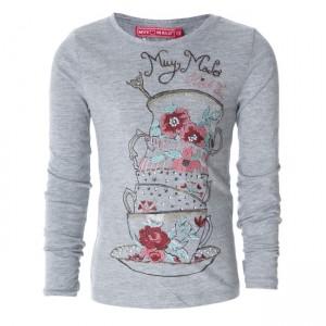 Muy Malo Langarm-Shirt/Longsleeve Tea Cups gray melange