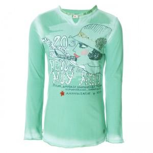 Muy Malo Langarm-Shirt/Longsleeve Frauen-Print green spruce