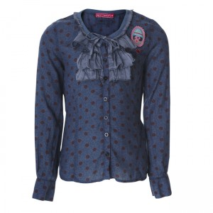Muy Malo Bluse small Flower orion blue