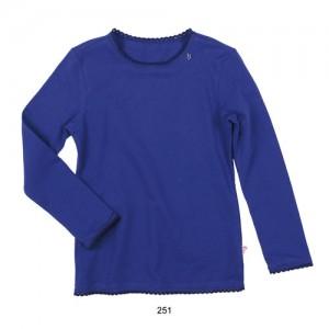 Mim-Pi Basic-Langarm-Shirt / Longsleeve blau