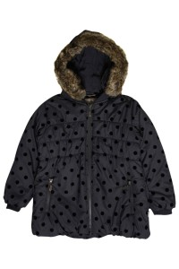 Hust & Claire Winter-Jacke/-Mantel Dots steel grey