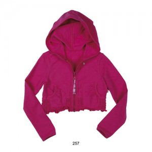 Mim-Pi Basic-Kapuzen-Cardigan pink