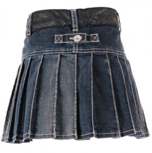 Carbone Falten-Rock blue denim