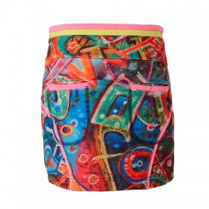 Muy Malo Rock Graffiti-Print multicolor