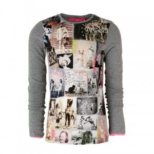 Muy Malo Langarm-Shirt/Longsleeve Photo-Print grey melange