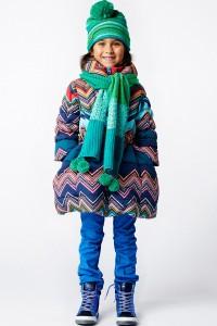 Mim-Pi Winter-Jacke/-Mantel Zickzack multicolor AUSVERKAUFT